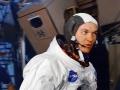 """""""Nejoptimističtější astronaut"""" Mike Collins během nácviku v červnu 1969"""