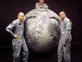 Posádka Apolla 11 a její cíl ve zmenšené kopii