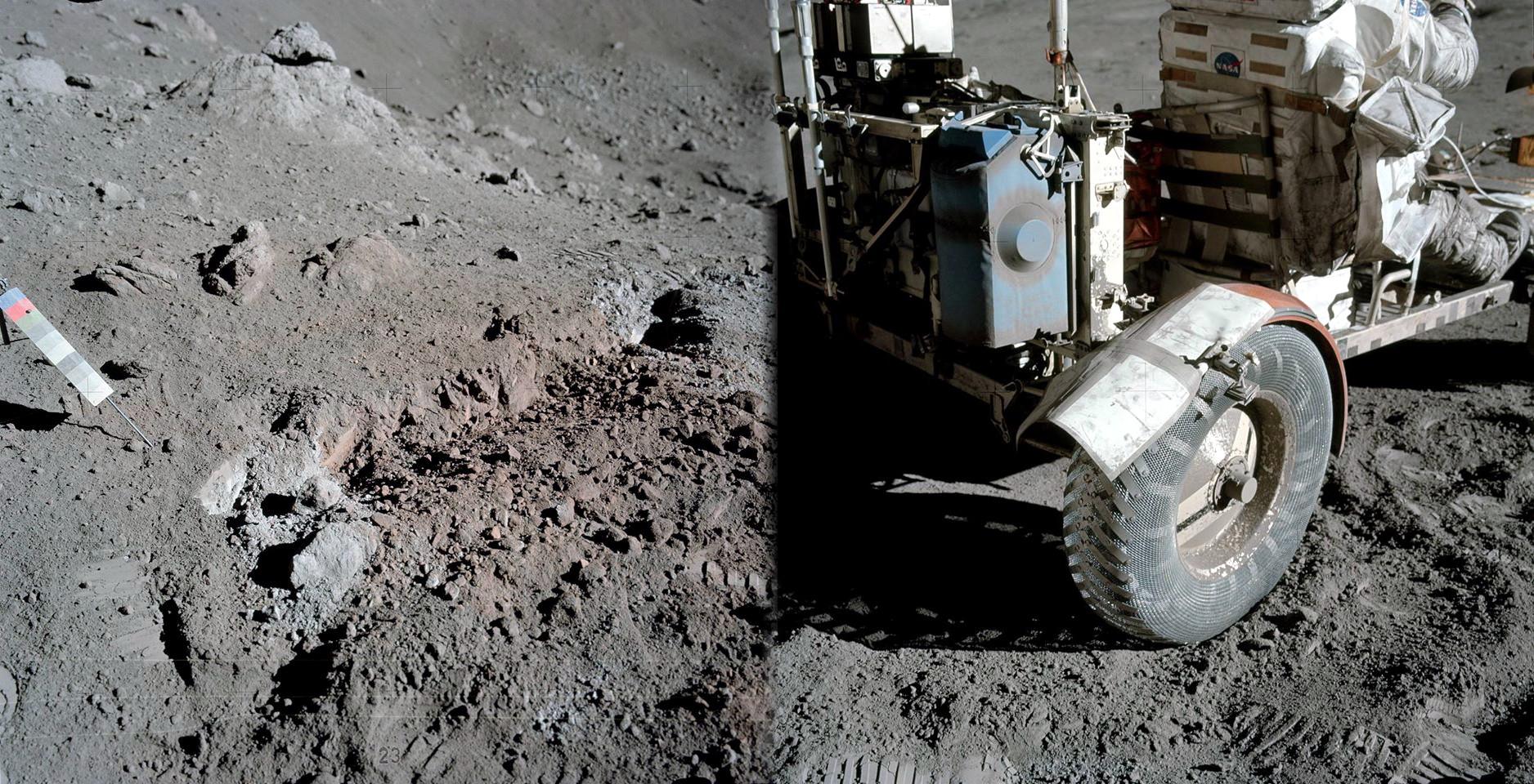 12. prosince 1972 začali Cernan a Schmitt svůj druhý den na Měsíci nejprve opravou blatníku roveru, který se poškodil poté, co o něj nechtěně Cernan zavadil kladívkem. Nový provizorní blatník vyrobili z nepotřebných terénních map a izolepy. V průběhu tohoto výstupu nalezl Jack Schmitt poblíž kráteru Shorty oranžovou půdu. Na rozdíl od předchozí výpravy, která si myslela, že nalezla oranžovou půdu - přitom to byl jen odraz od lunárního modulu -, šlo tentokrát skutečně o půdu zbarvenou oxidem titaničitým. Její stáří je asi 3,64 miliard let a pochází nejspíše z pradávné vulkanické erupce