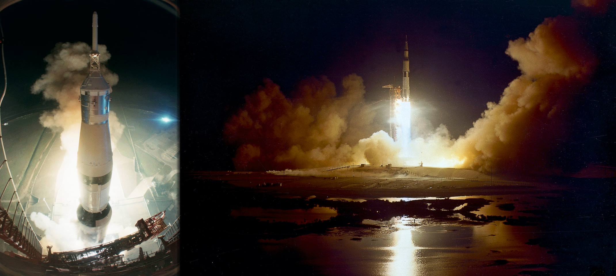 Poslední Apollo startuje 7. 12. 1972; první noční start Apolla; po zkontrolování systémů lodi došlo k restartu motoru třetího stupně rakety Saturn 5 S-IVB, který astronauty navedl vstříc Měsíci - dosud naposledy, co lidé opustili oběžnou dráhu Země