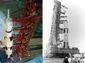 Poslední cesta posledního pilotovaného Saturnu započala 28. srpna 1972, kdy raketa spolu s lodí Apollo 17 opustila VAB. Přihlížejí kosmonauti Apolla 17