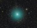 Jak velikou komu má kometa 252P/LINEAR? Přesvědčte se na snímku od Fritze Helmuta Hemmericha z 12. dubna 2016 (Marek Biely)