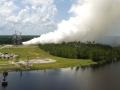Test raketového motoru RS-25 s číslem 0528, který proběhl 29.července 2016 a byl úspěšný. Účelem testování je získat klíčová data, aby se motor mohl stát součástí rakety SLS. RS-25 je upgradovaná verze motoru SSME, použitého u raketoplánu (NASA&Petr Plicka)