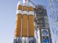Pohled na raketu Delta IV (použitou při jiné příležitosti) (archive.floridatoday.com)