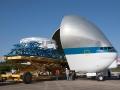 Pro převoz Orionu se používá toto rozměrné nákladní letadlo - Super Guppy