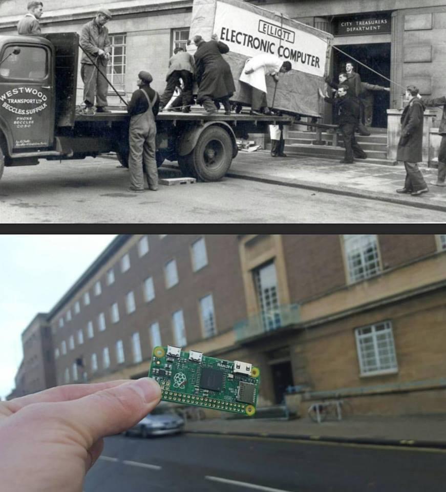 Počítače před 58 lety... a dnes. Miniaturizace pokročila neuvěřitelně