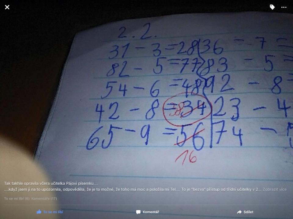 "Učiteľka asi mala len ""slabší deň"" :D (Eduard Boldižár)"