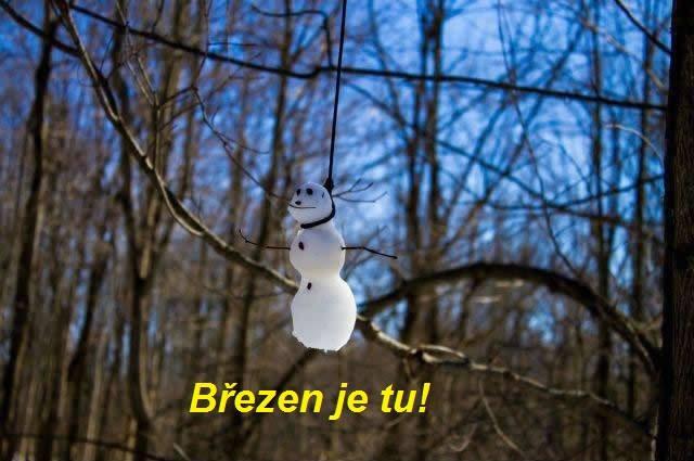 S příchodem března si to sněhuláci můžou hodit :)