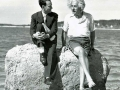 Dobová fotka Alberta Einsteina na pláži pri Long Islandu, USA v roku 1939...(Eduard Boldižár)