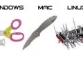 Jak by to vypadalo, kdyby operační systémy byly reprezentovány noži?