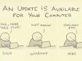 Ne pro všechny jsou nové aktualizace k dispozici pohromou :-)
