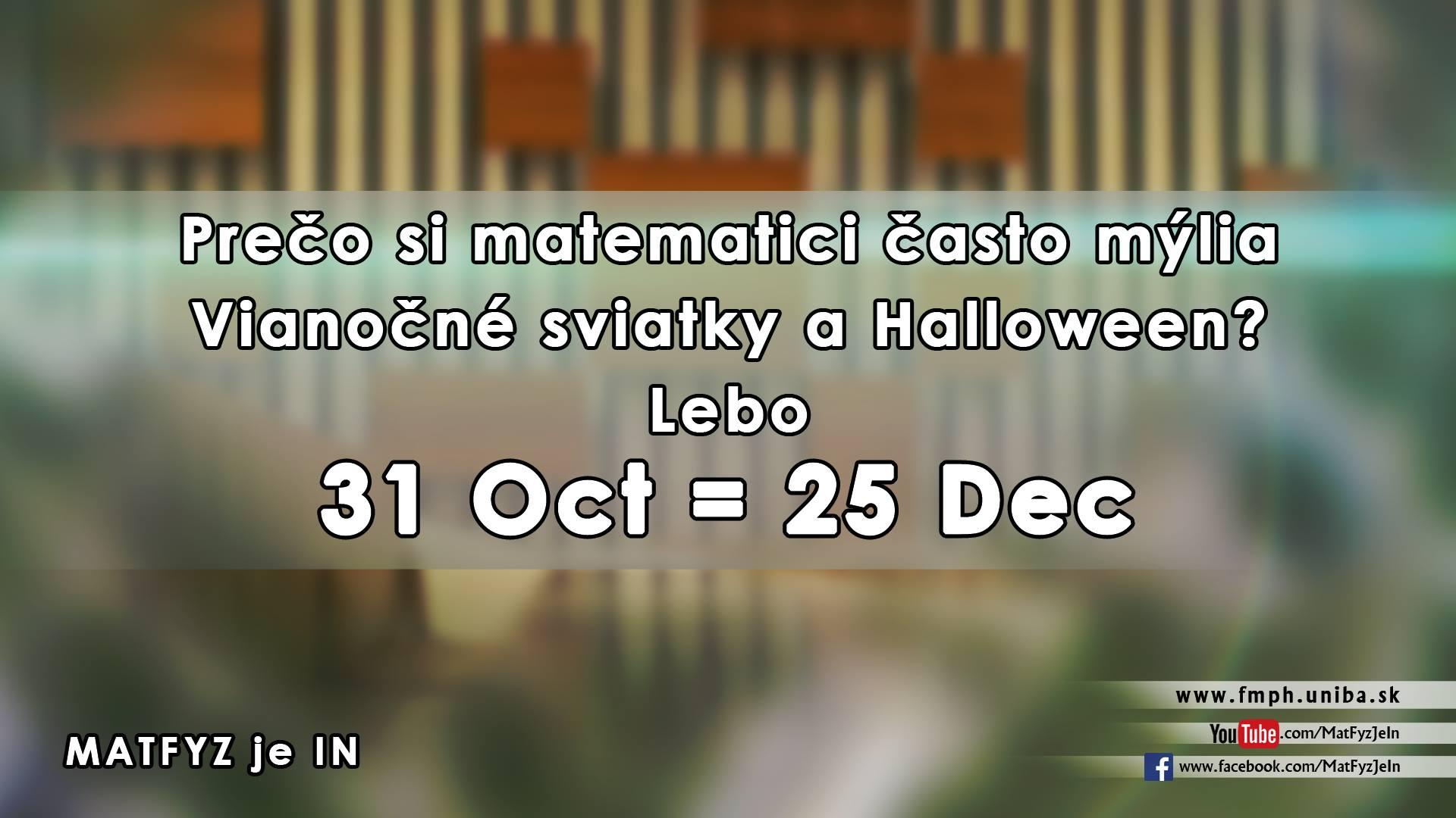 Proč si matematici někdy pletou Vánoce a Halloween