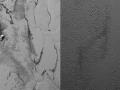Tyto jámy v planině Sputnik se mohly vytvořit kombinací sublimace a lámání ledovcových polí