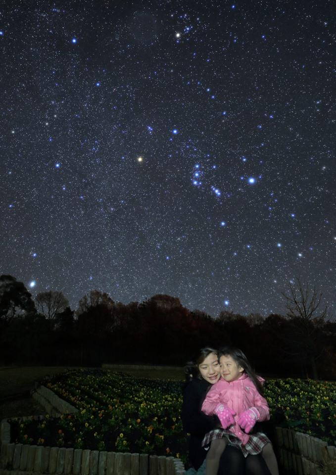 Orion i hviezdna stráž, veľkolepé nočné dielo,... (Eduard Boldižár)