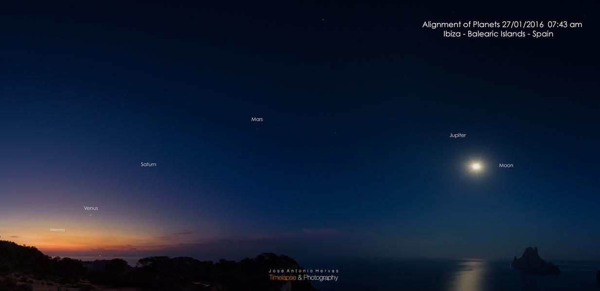 Pred východom Slnka bolo vidieť 5 planét Slnečnej sústavy...to je majstrovský pohľad! (Eduard Boldižár)