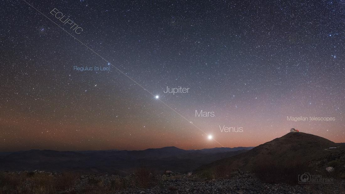 Hviezdné nebo v púšti Atacama, Čile, pri stavájúcom Giant Magellan Telescope, ktorý bude mať priemer ~25 metrov a úplne dokončený bude v roku 2025...(Eduard Boldižár)