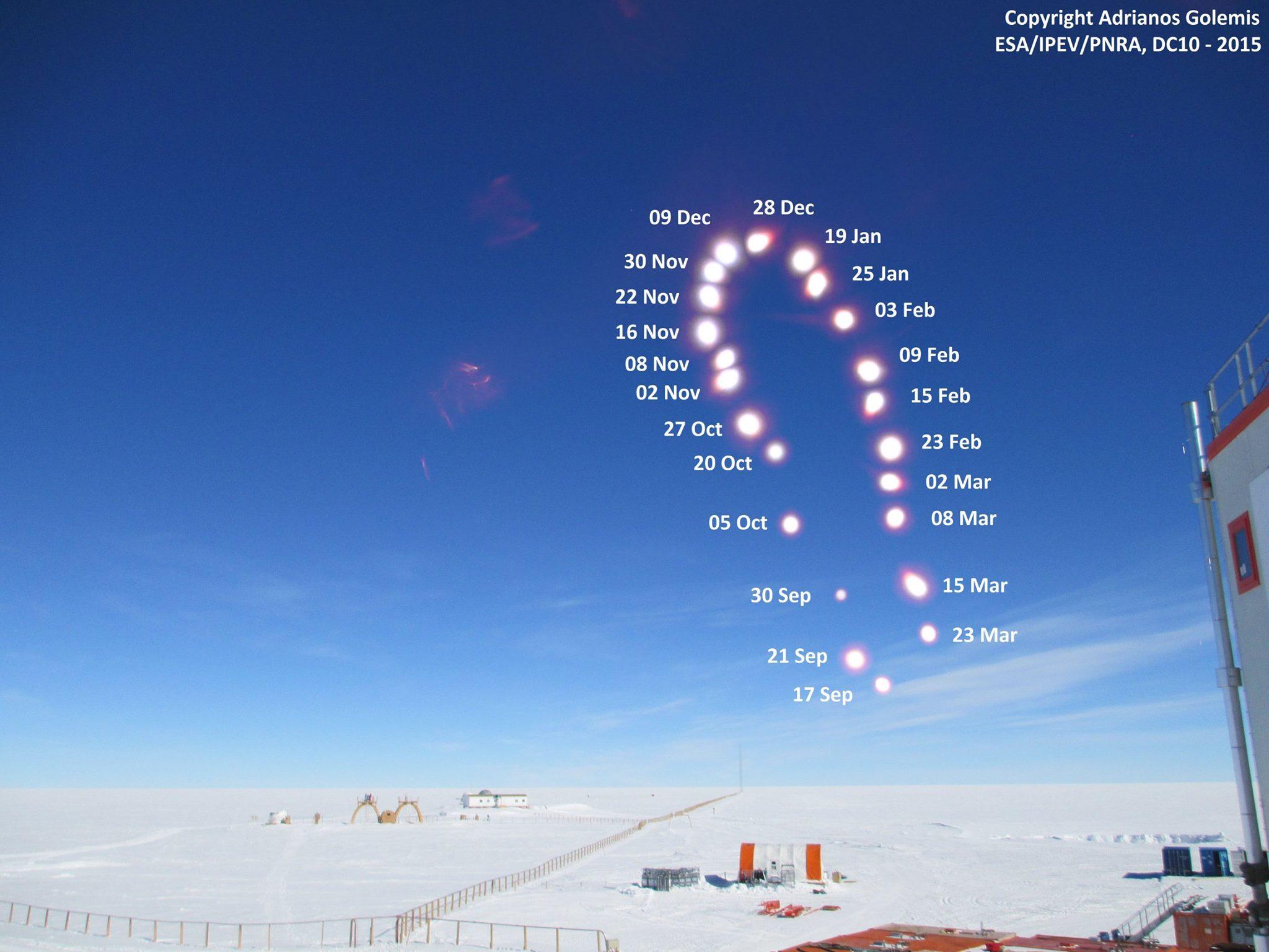 Dnes je v Antarktíde (okolie južného pólu) krásny polárny deň ;) (Eduard Boldižár)