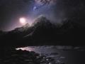 Kryštálky ticho spia...len svit galaxie, ožiaruje nočnú krajinu (Eduard Boldižár)
