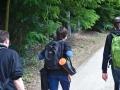 Petr, Jakub a Marek na procházce v okolí Jundrova