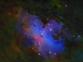 Večné Stĺpy stvorenia (aj keď dlho neprežijú, zničí ich blízka supernova za pár desatisíc rokov) v impozatnej snímke....(Eduard Boldižár)
