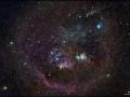 Okolité prostredie Veľkej hmloviny v Orióne a v pozadí milióny hviezd...(Eduard Boldižár)