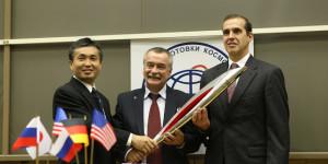 Olympijská pochodeň na ISS