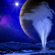 Ani stopy po gejzírech na měsíci Europa