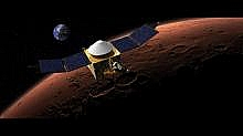 Nástup MAVEN na obežnú dráhu Marsu