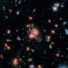 Baby-boom hviezd v cD galaxii