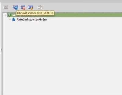VirtualBox snímky systému