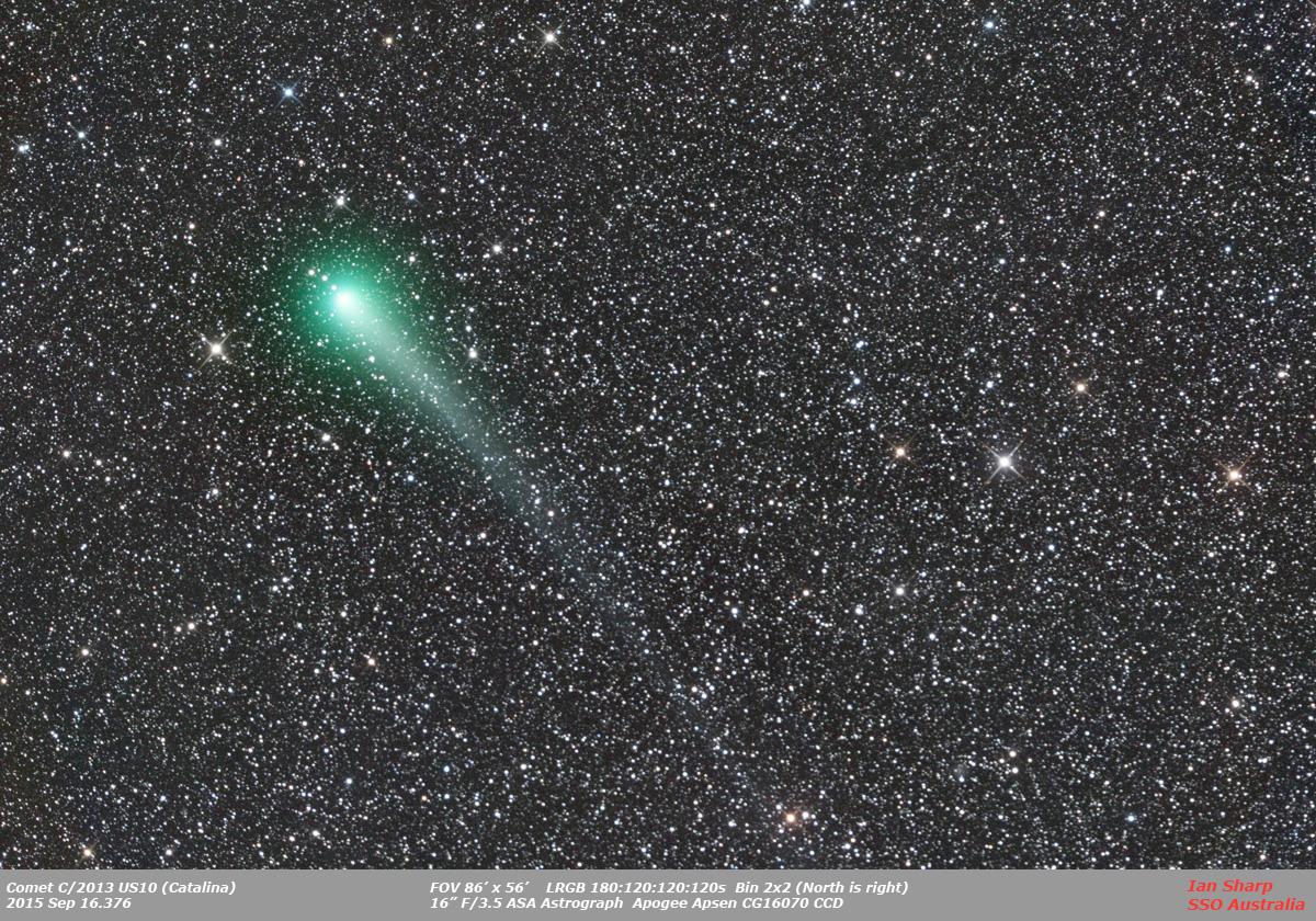Komety vizuálně v době novu 10. 1. 2016