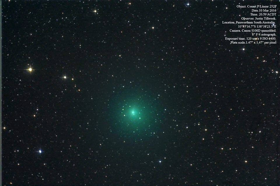 Kometa 252P/LINEAR na jarní obloze