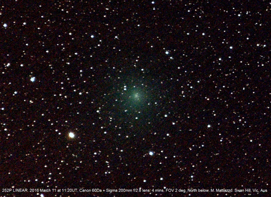 Komety vizuálně v době novu 7. 4. 2016