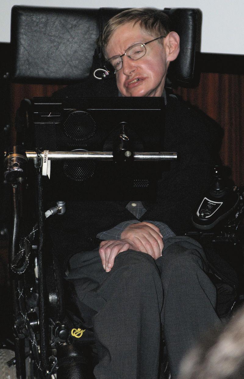 Stephen Hawking sedemdesiatpäťročný