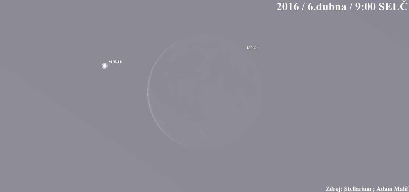 Nezmeškejte jedinečný zákryt Venuše Měsícem!