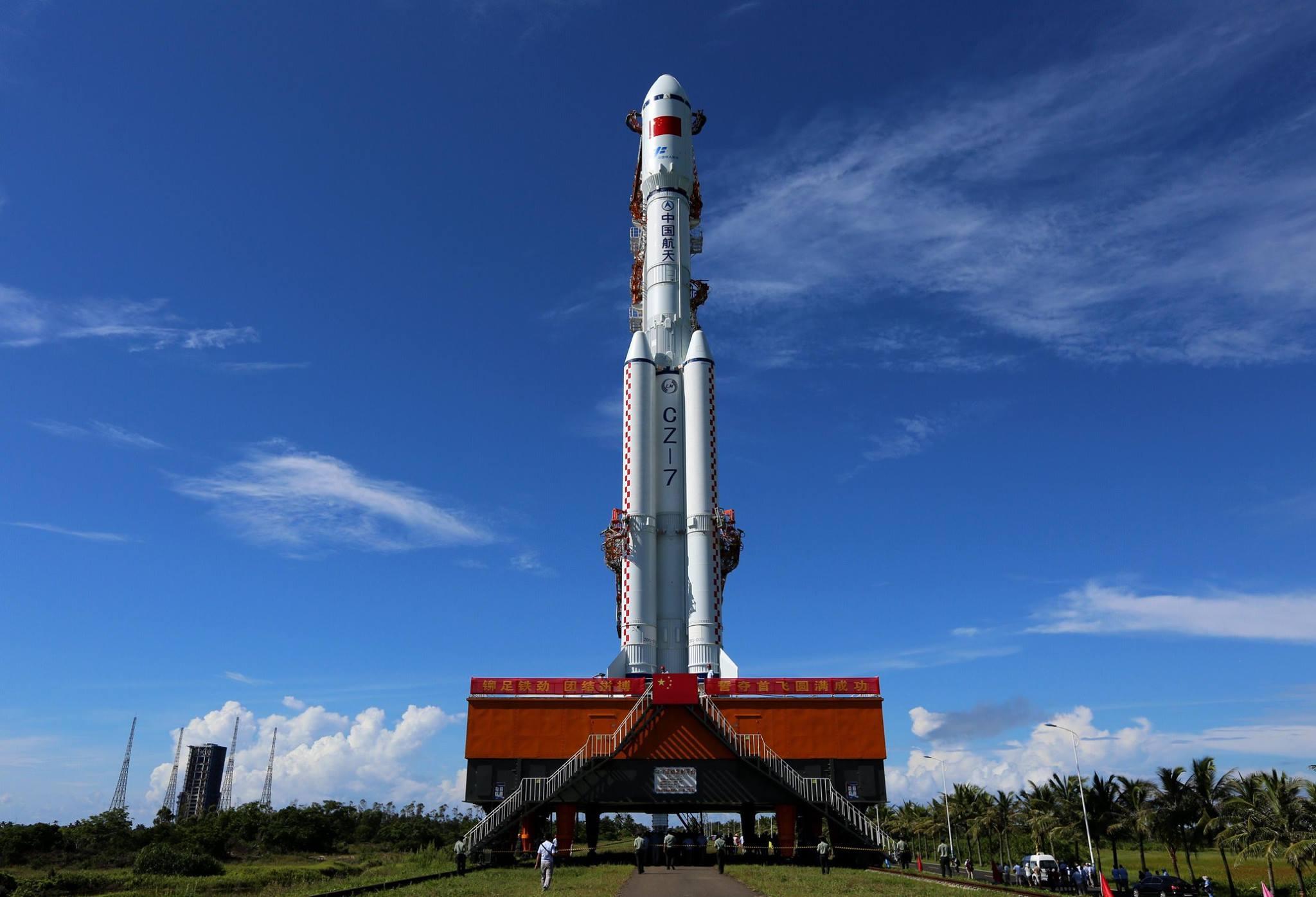 Prvý štart rakety Dlhý pochod 7