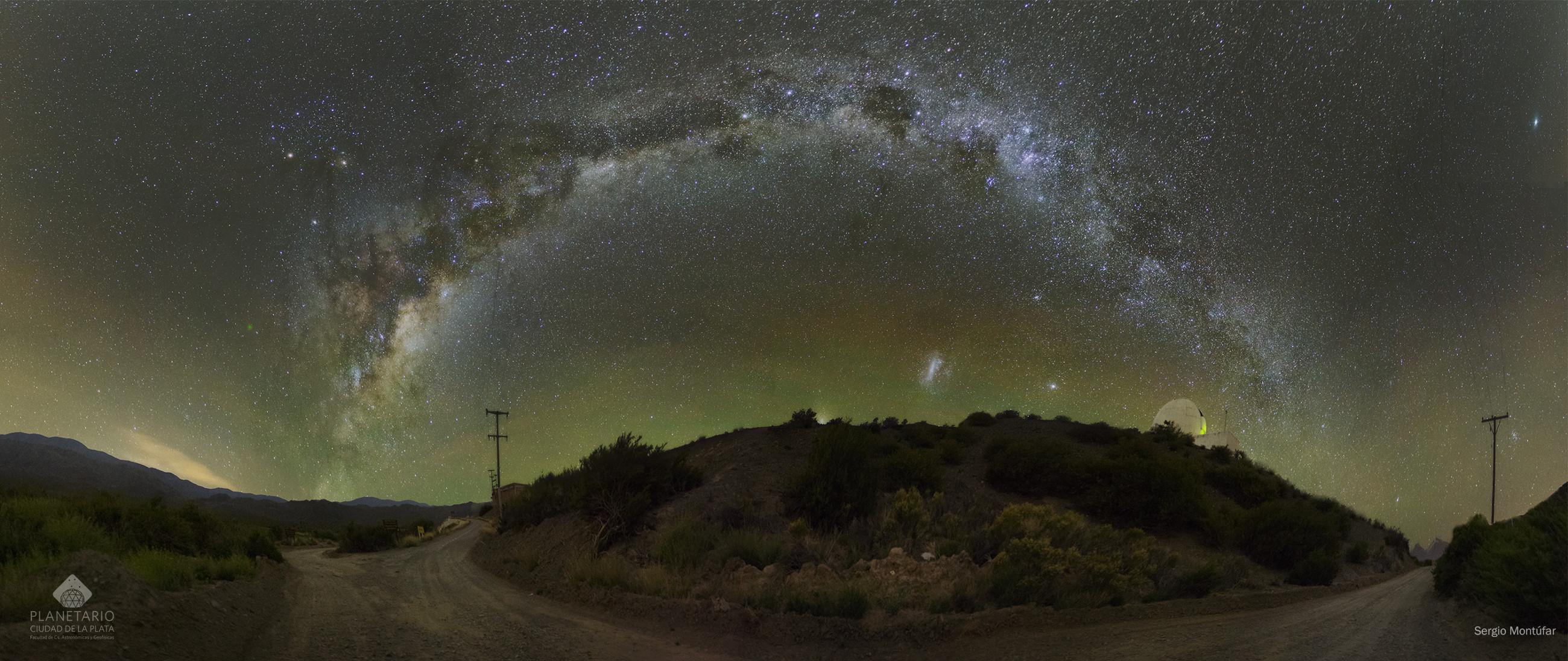 Mliečna cesta nad Argentínou