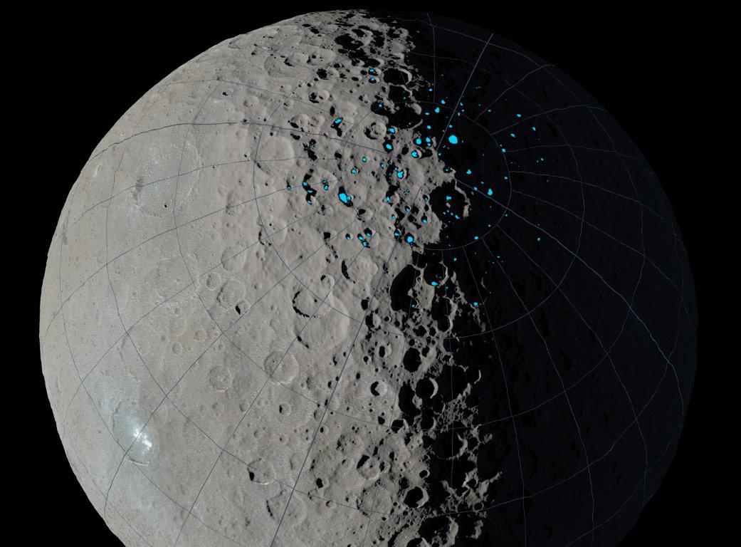 Trvalý tieň na trpasličí planéte Ceres