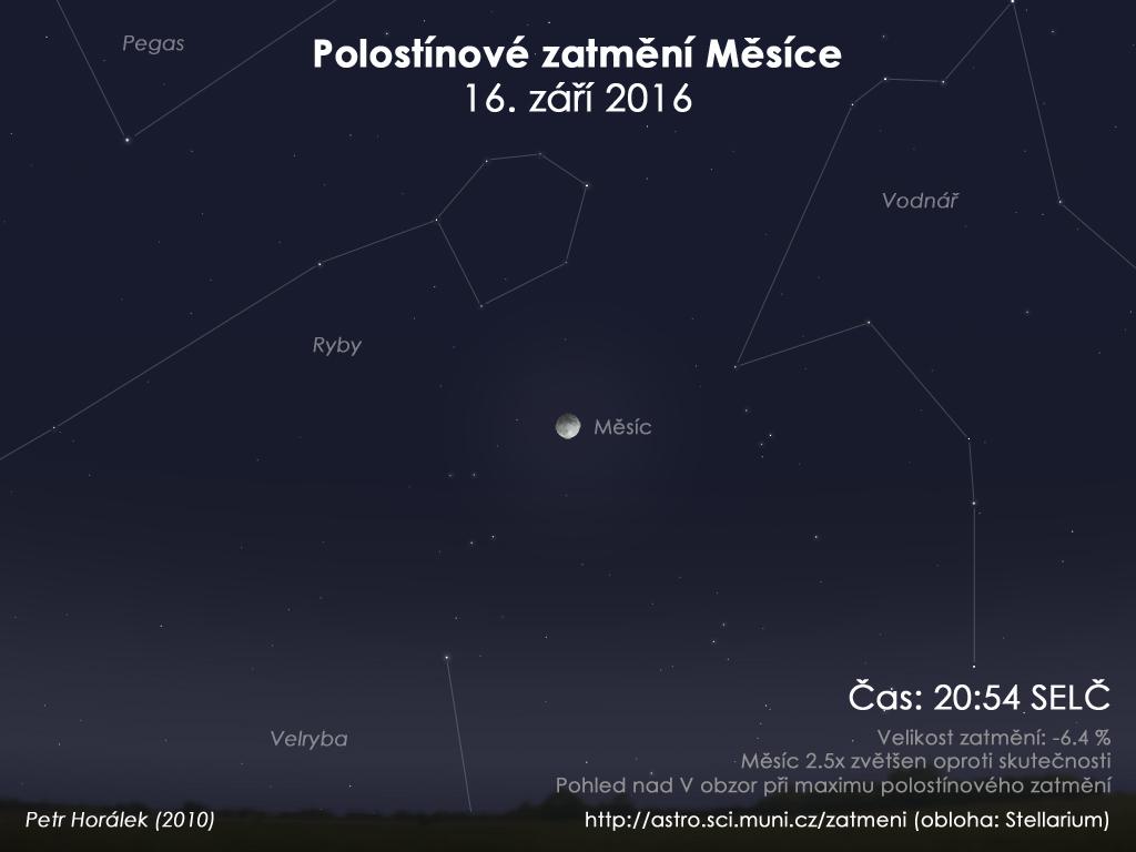 Předpověď počasí pro zatmění Měsíce 16. 9. 2016