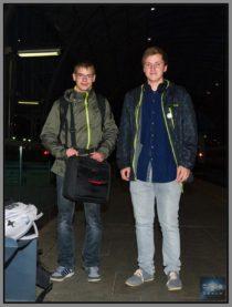 Tonda Judytka a Petr Plicka na nádraží