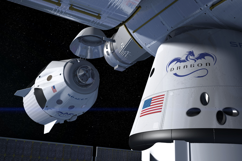 Ľudský let okolo Mesiaca v réžii SpaceX do roku 2018