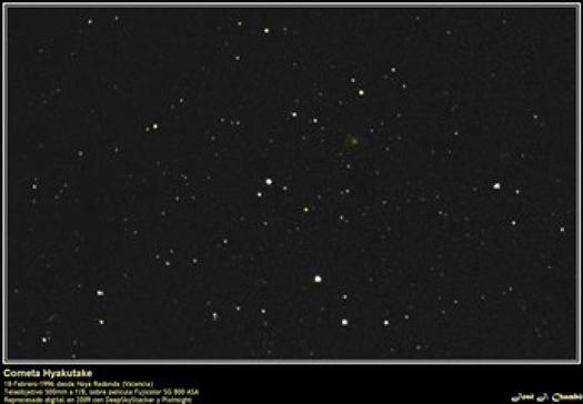 Historické komety (V.): C/1996 B2 (Hyakutake)