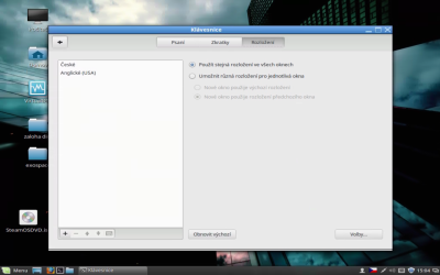 Nastavení klávesnice v Linux Mintu